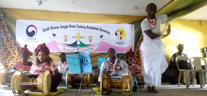 Culture, creativity as Janggu Drums workshop ends in Ajegunle
