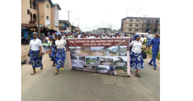 Bad roads: Aba women protest, give Ikpeazu 100 days ultimatum