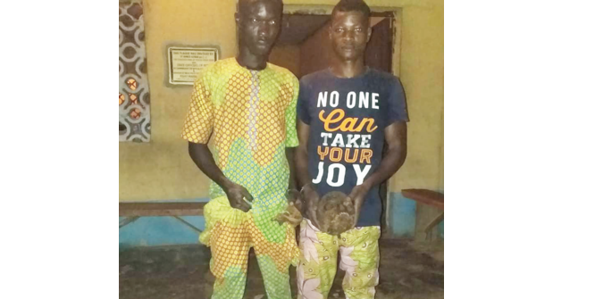 Two 'ritualists' arrested with human skull