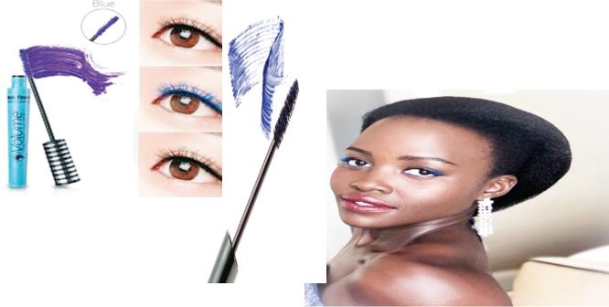 Unleash your lashes, use blue mascara