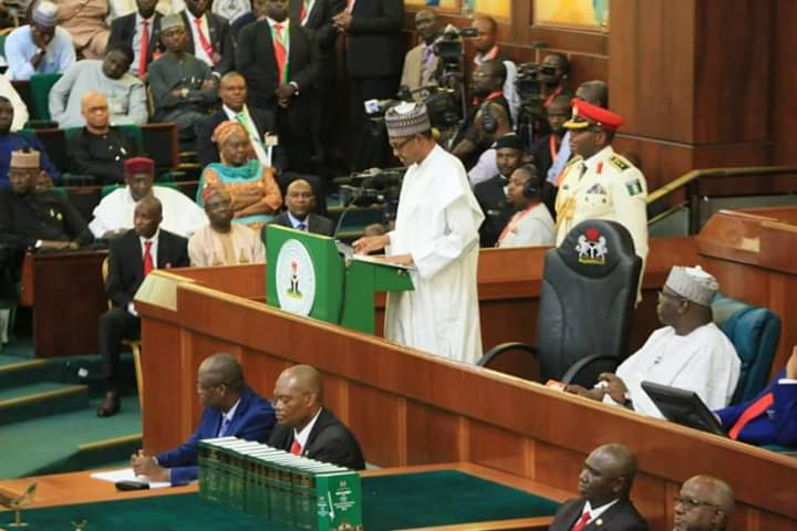 2020 Budget: I have cold, lost my voice because of hard work – Buhari tells NASS