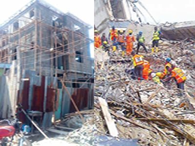 Fear of building collapse as downpour increases