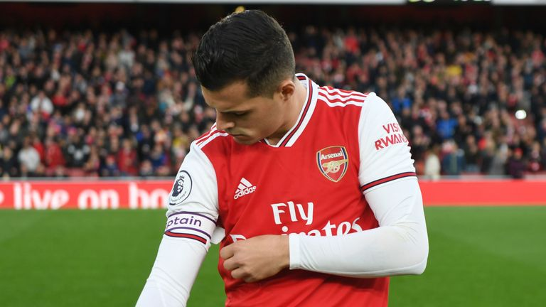 Why I was angry with Arsenal fans – Granit Xhaka