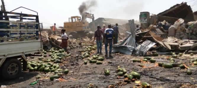 Ikosi-Ketu Fruit Market demolished for proposed new N2.8bn modern market