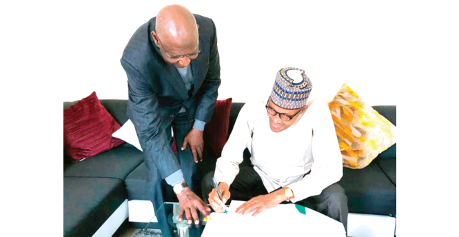 Dust over Buhari's  power to sign bills abroad