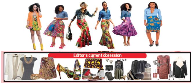 Fun styling with Chambray shirt and Ankara skirt