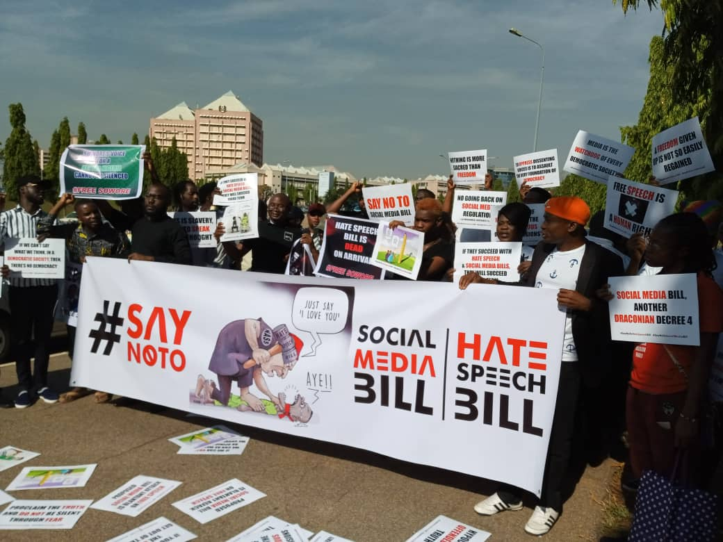 Groups protest Hate Speech Bill, Sowore's detention in Abuja