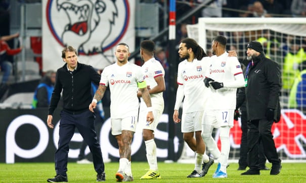 UEFA League: Memphis Depay clashes with Lyon fans over Marcelo donkey banner