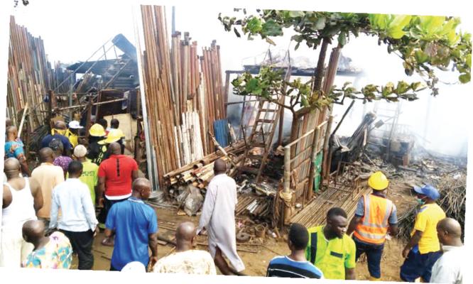 30 shops razed as fire guts Owode-Onirin Market
