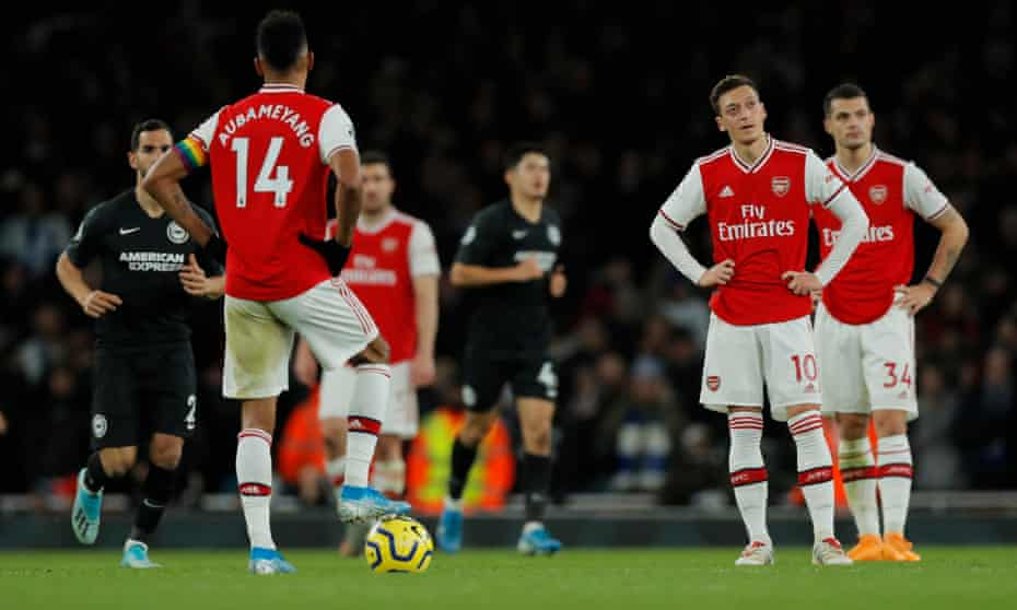 Brighton's Maupay piles misery on Ljungberg's Arsenal at Emirates