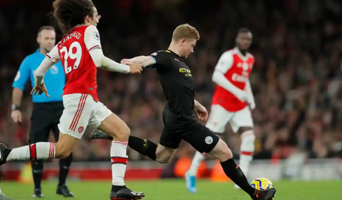 EPL: De Bruyne engineers Arsenal rout