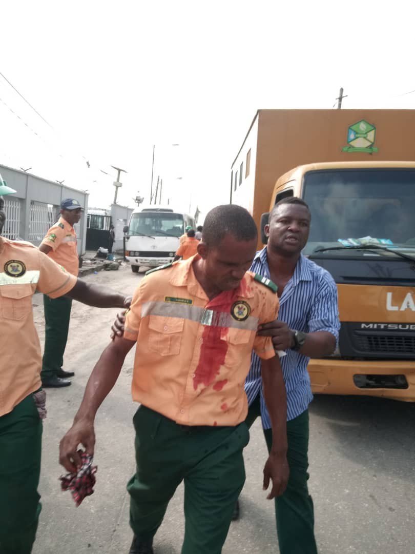 Street Trading: LAGESC officers stabbed, hospitalized after bloody clash in Ikoyi