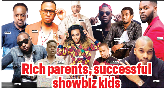 Rich parents, successful showbiz kids