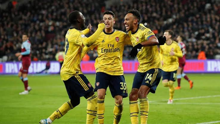 EPL: Arsenal strike back to end winless run at West Ham