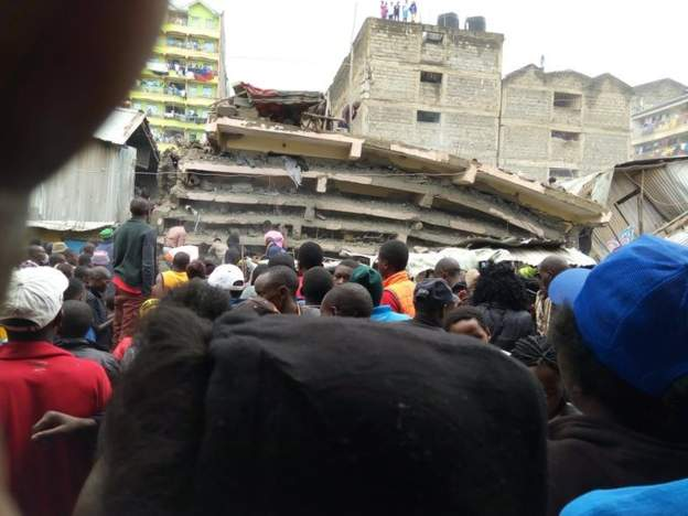Many feared trapped as multi-storey building collapses in Nairobi